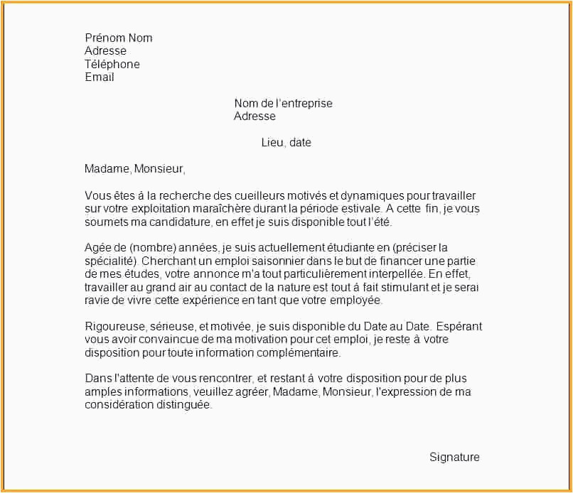 Cloture Lettre De Motivation Facture Type Exemple Lettre