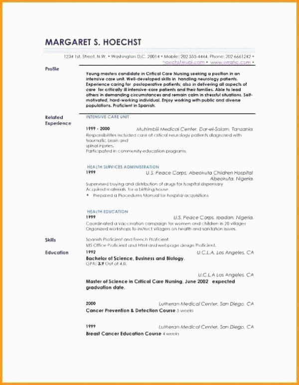 Cv Restauration Exemple Profile In A Resume Examples Cool Graphy Profil Cv Exemple