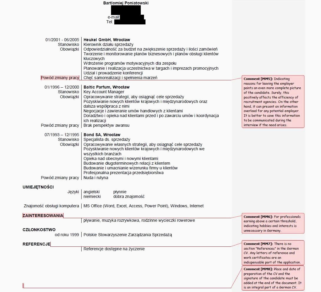 18 aufbau cv english