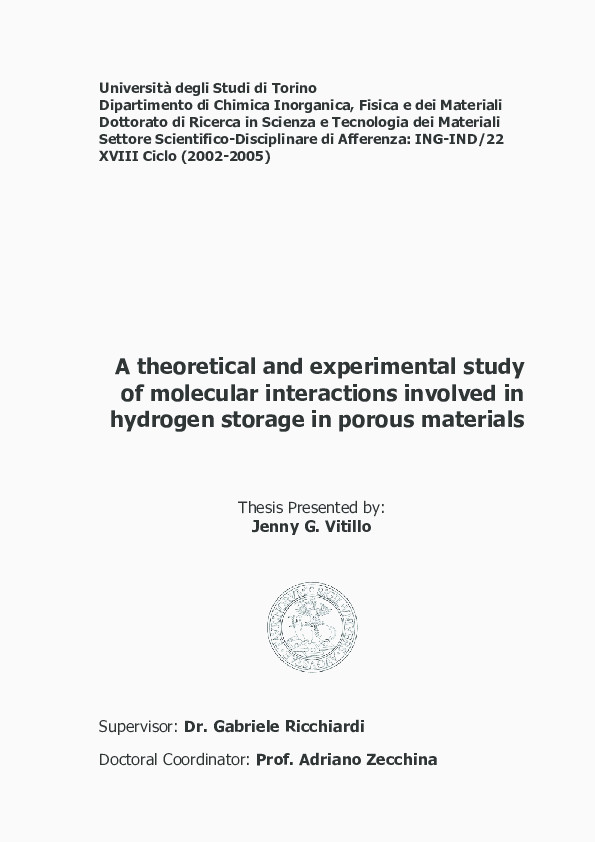 Exemple De Candidature Spontanée Pdf A theoretical and Experimental Study Of Molecular Interactions