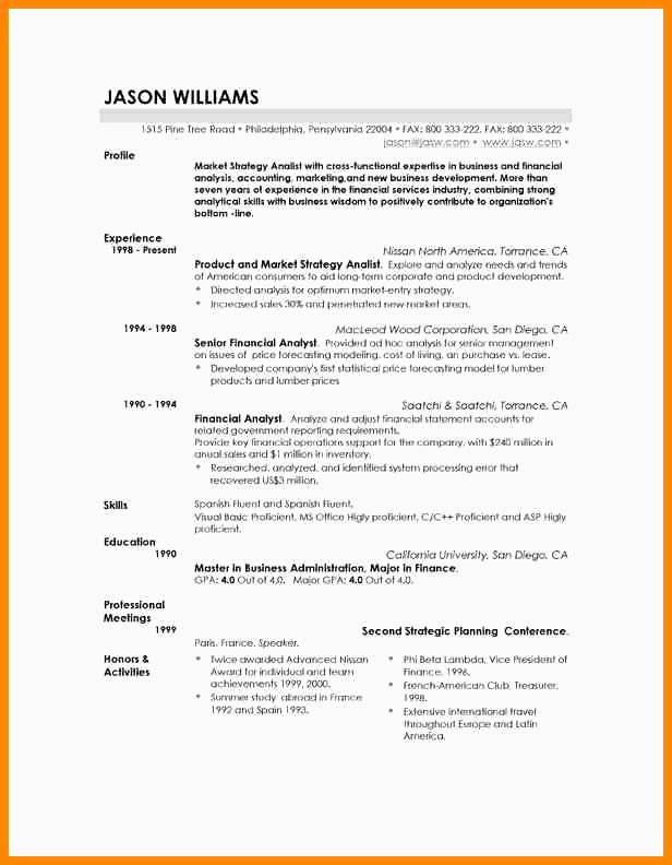 Exemple De Cv Word Resume Examples for Vp Sales New Graphy Cv Suisse Exemple