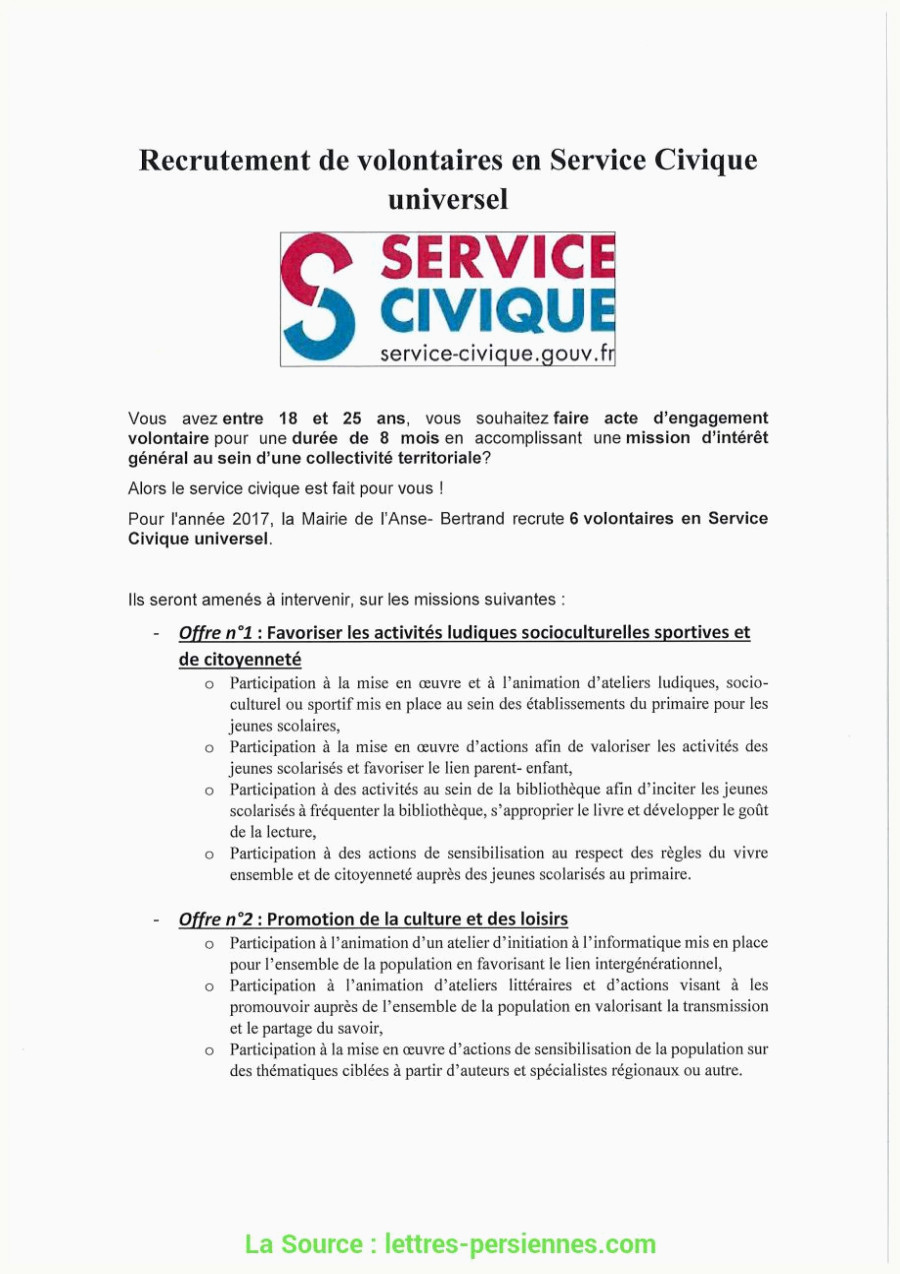 Exemple De Lettre De Motivation Service Civique Nouveau Lettre De Motivation Service Civique Pole Emploi Lettre De