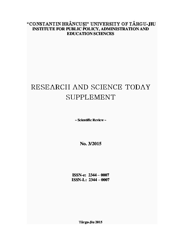 Exemple De Remerciement Rapport De Stage 3ème Pdf Research and Science today Supplement No 3 2015