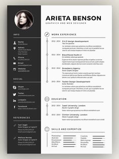 Faire Un Cv Sur Mac 79 Best ✏ Professional Resume Templates Images In 2019