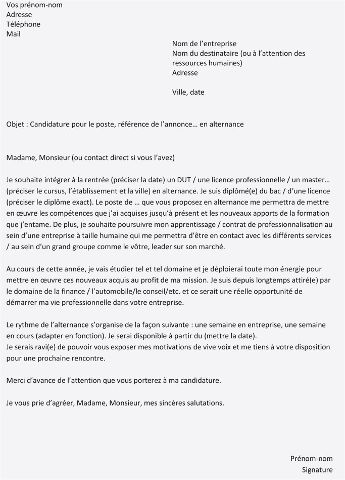 Letrre De Motivation Lettre De Motivation Projet Professionnel Exemple Plan Lettre De