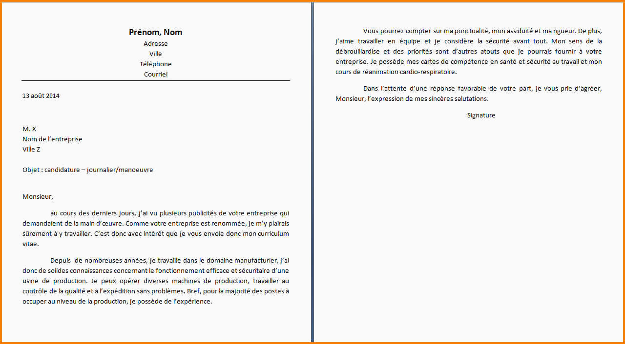 Lettre De Motivation Agent De Production Avec Experience 9 Lettre De Motivation Usine Sans Experience