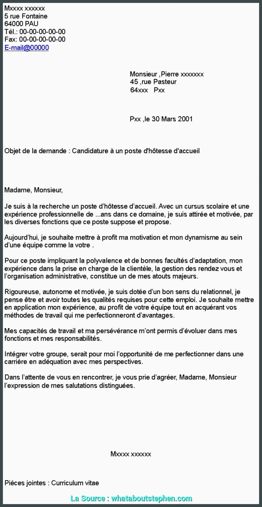 lettre de motivation agente daccueil