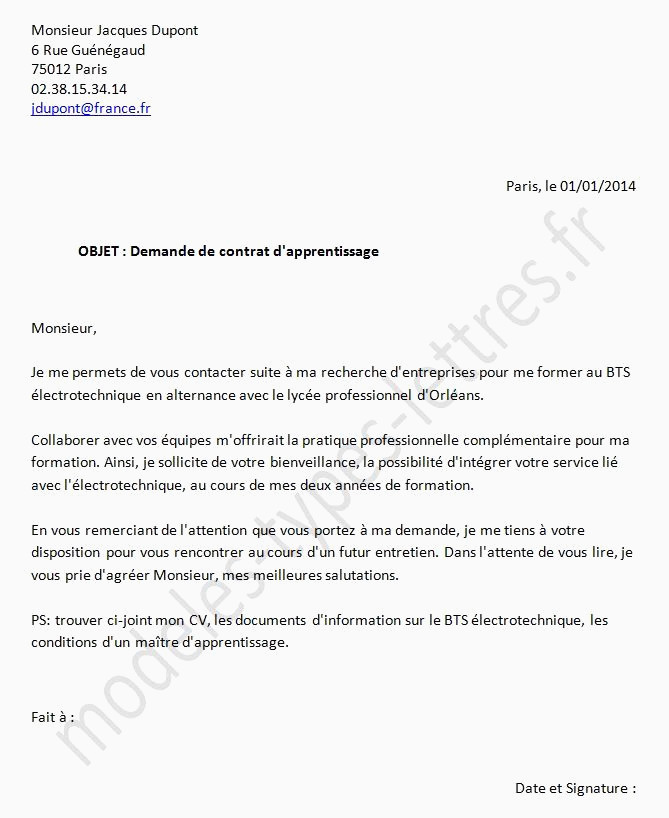 Lettre De Motivation Amp 15 Lettre De Motivation Pour Contrat En Alternance