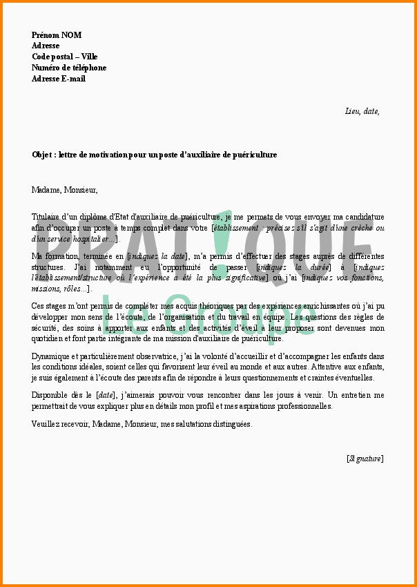 Lettre De Motivation Auxiliaire Puericulture Lettre De Motivation Lettre De Motivation Babysitting Allfriendz
