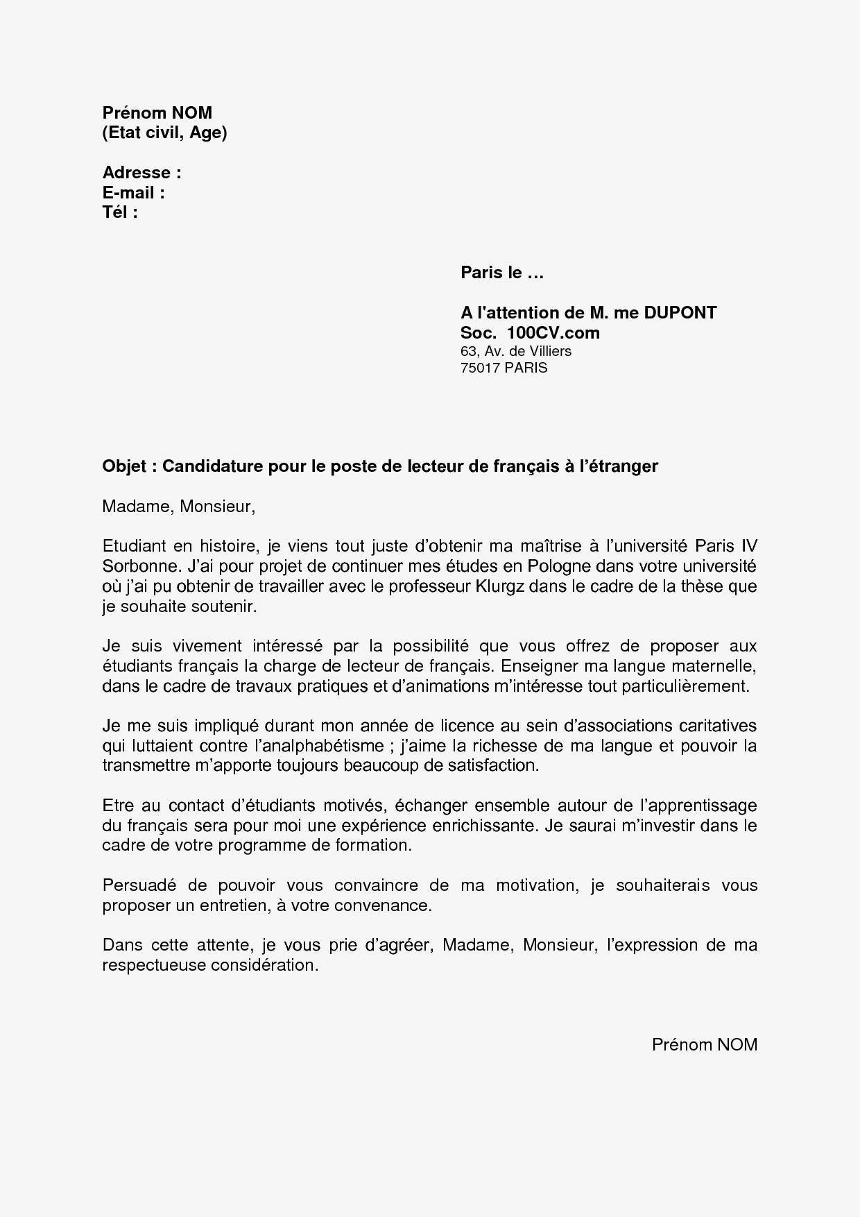 Lettre De Motivation Bourse Erasmus 46 Exemple De Lettre De