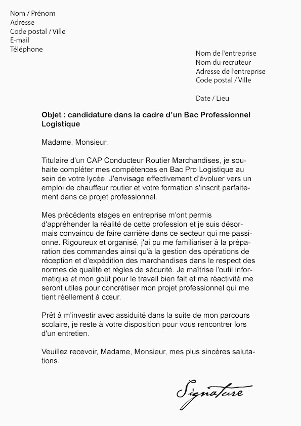 Lettre De Motivation Bts assistant De Gestion Lettre De Motivation Bac Pro Vente