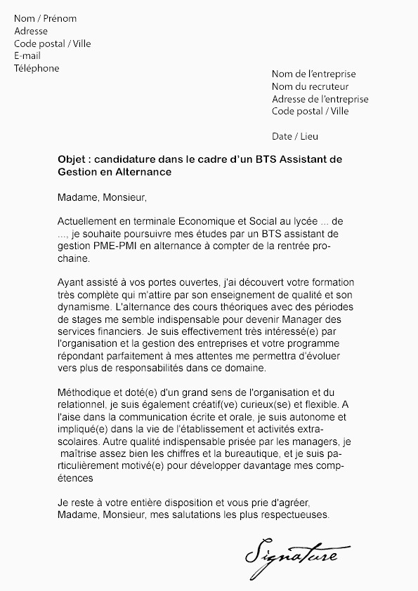 Lettre De Motivation Bts assistant De Gestion Lettre Motivation Bts assistant Manager Inspirant Lettre De