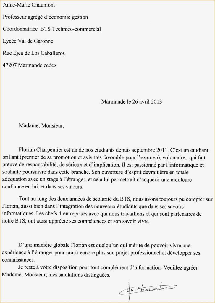 Lettre De Motivation Bts assistant De Gestion Lettre Motivation Maison De Retraite Mod¨le Exemple Lettre