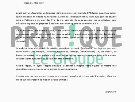 Lettre De Motivation Bts Design Graphique Buyintuscany
