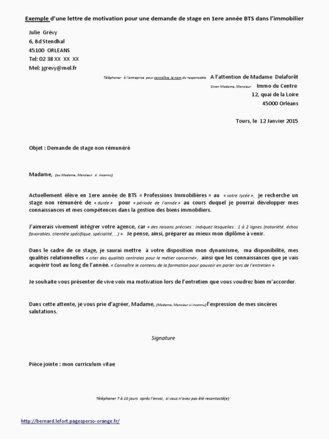 Lettre De Motivation Bts Profession Immobiliere Lettre De Motivation Cv Demande De Stage Dicleicken – Savantjournals