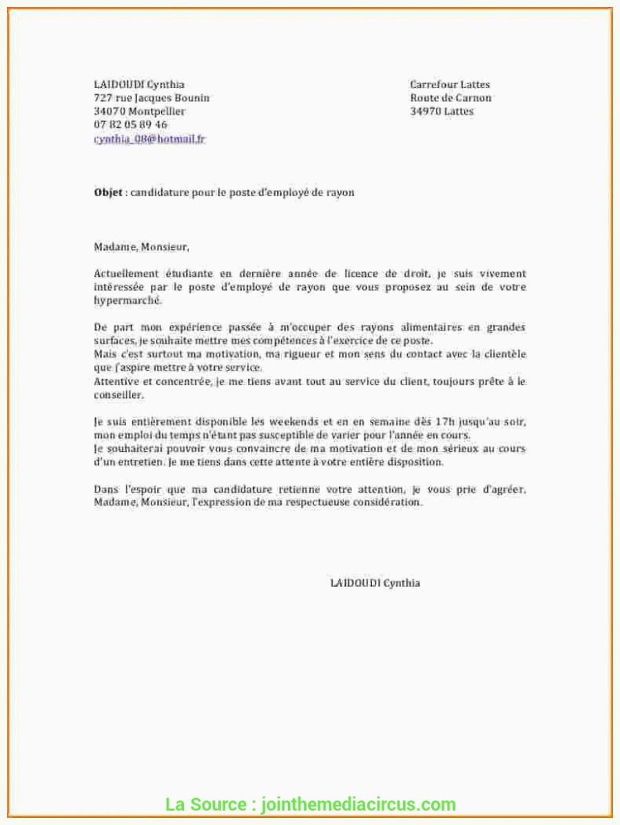 Lettre De Motivation Chronodrive Idéal Lettre De Motivation Mise En Rayon Pharmacie Exemple Cv Mise