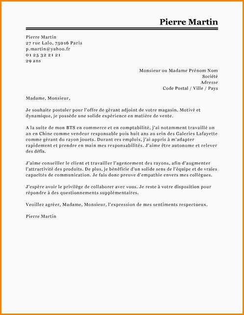 Lettre De Motivation College 10 Exemple Lettre De Motivation Vendeuse