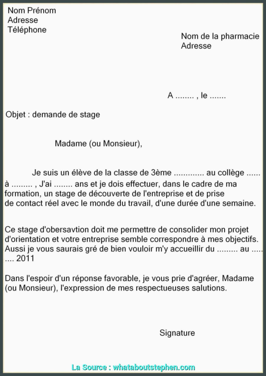 Lettre De Motivation College 14 Lettre Motivation Stage Informatique