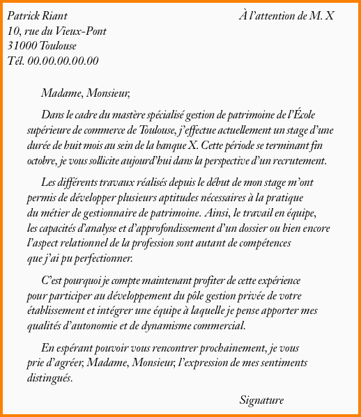 Lettre De Motivation College 15 Lettre De Motivation Pour Ecole