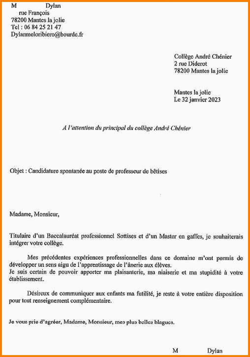 Lettre De Motivation College 15 Modele Lettre De Motivation Pour Ecole