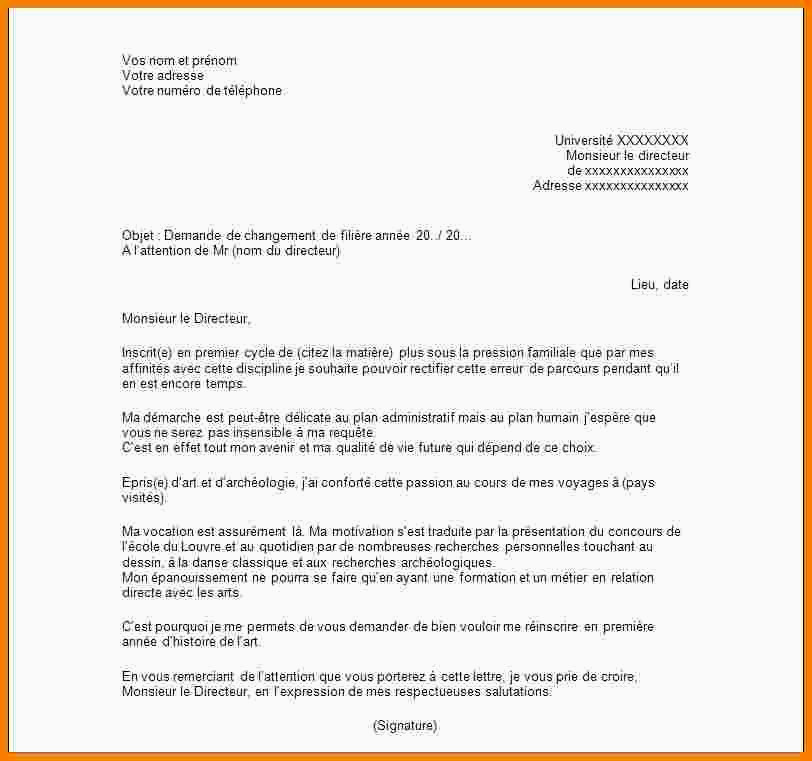 Lettre De Motivation College 7 Lettre De Motivation Université