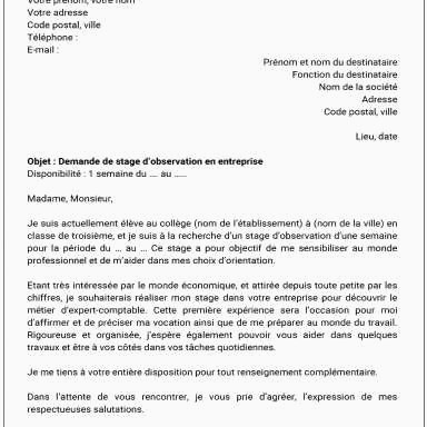 Lettre De Motivation Deaes Plus Récent Lettre De Motivation Stage Aes Exemple Lettre De