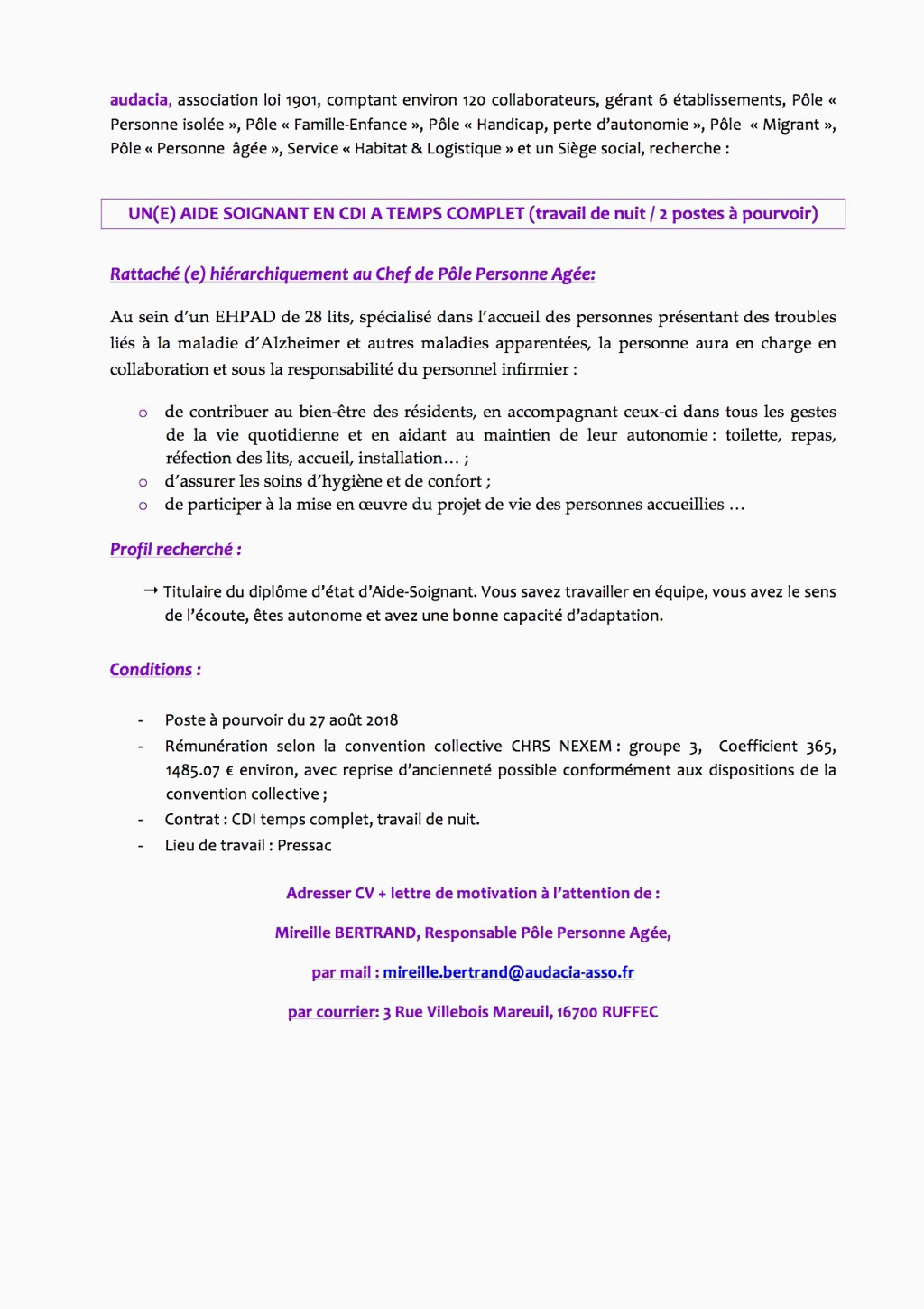 Lettre De Motivation Dominos 56 Exemple Lettre De Motivation Ehpad