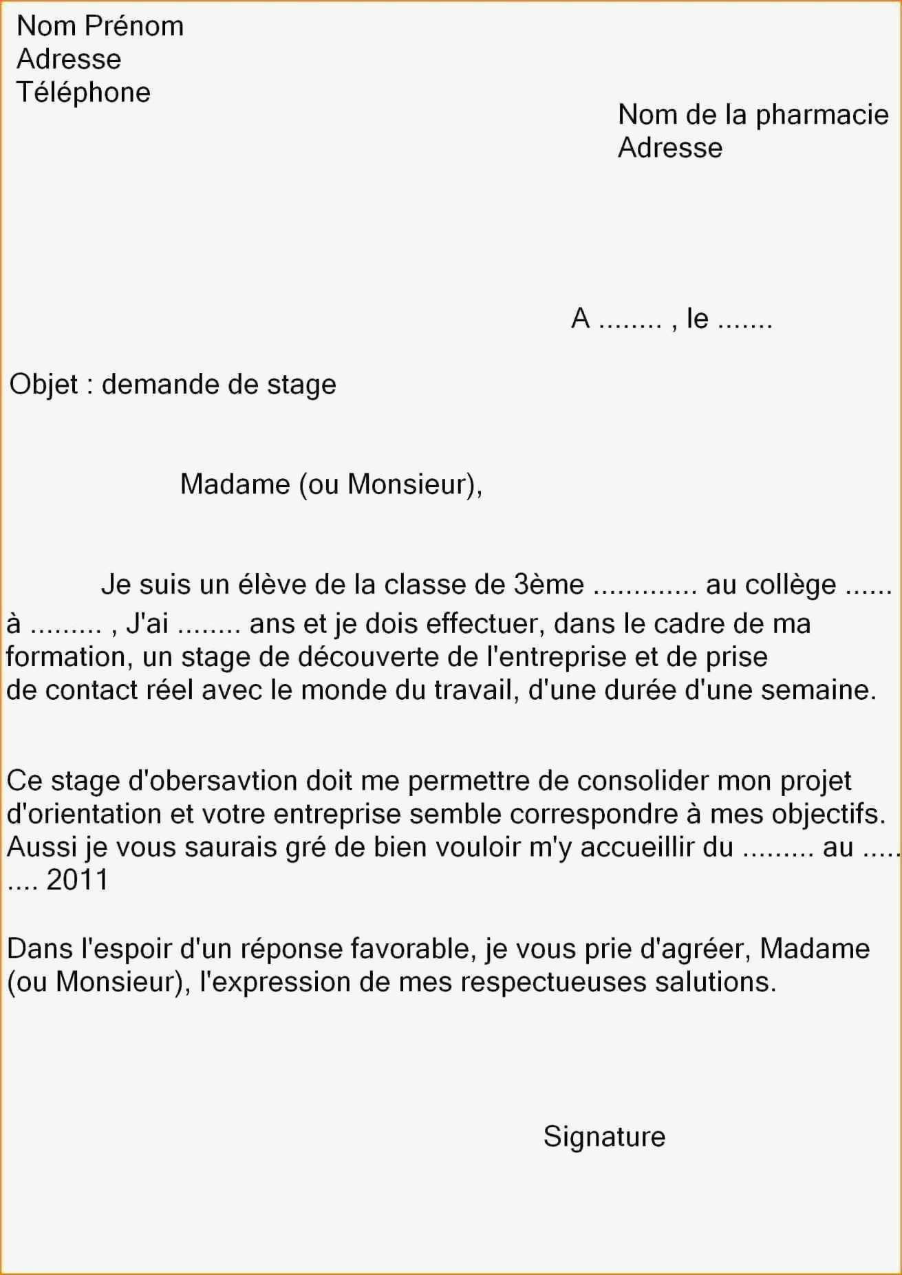 Lettre De Motivation Fleuriste Lettre De Motivation Pour Un Stage Inspirant 30 Lettre De Motivation