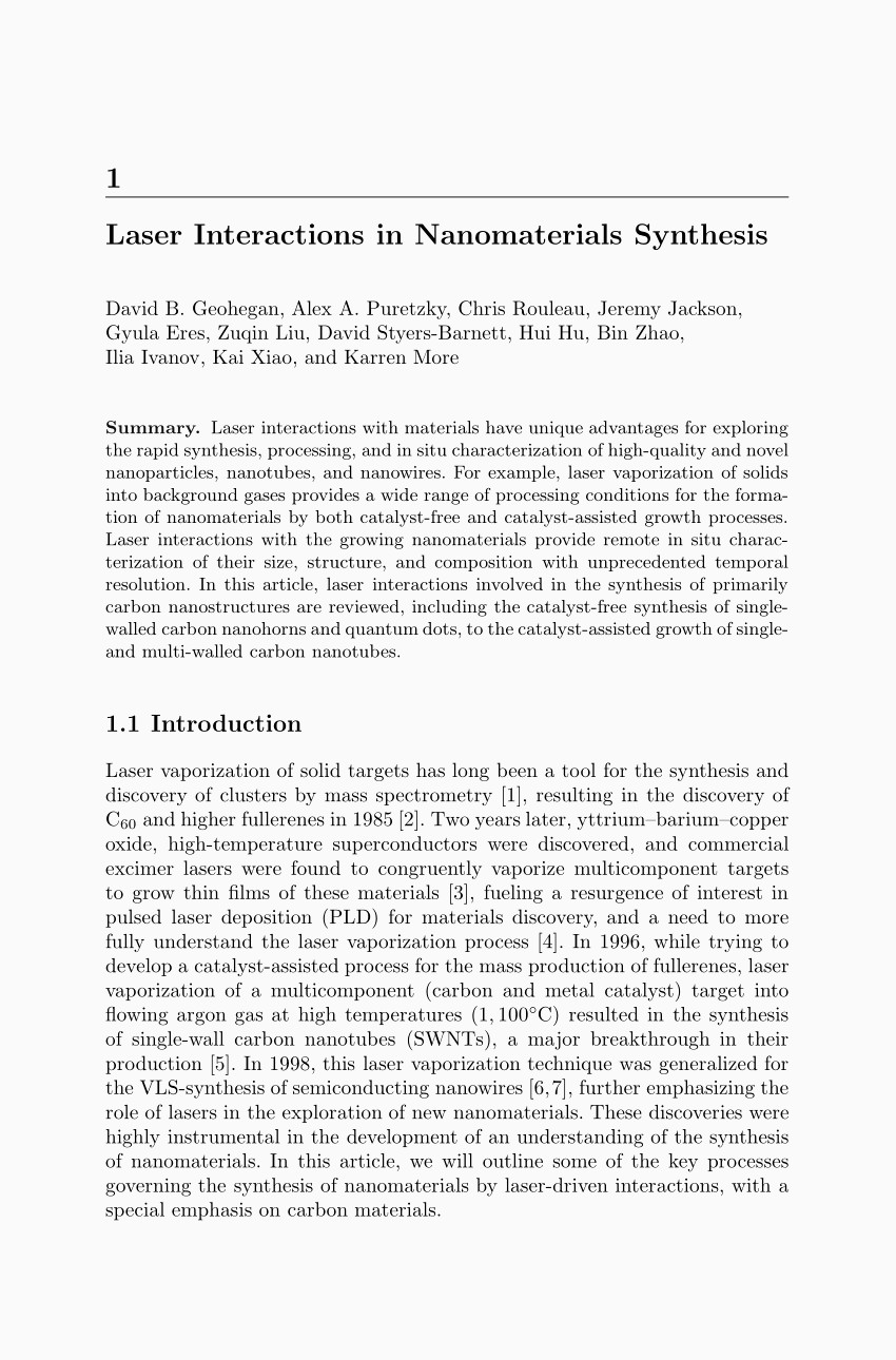 Lettre De Motivation formation À Distance Pdf Laser Interactions In Nanomaterials Synthesis