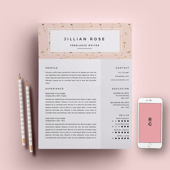 Lettre De Motivation Template: Lettre De Motivation Freelance Resume Template 3 Page Pack