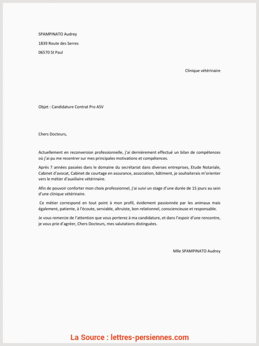 Lettre De Motivation Immersion Professionnelle Acceptable Lettre Motivation Stage Reconversion Lettre De Motivation
