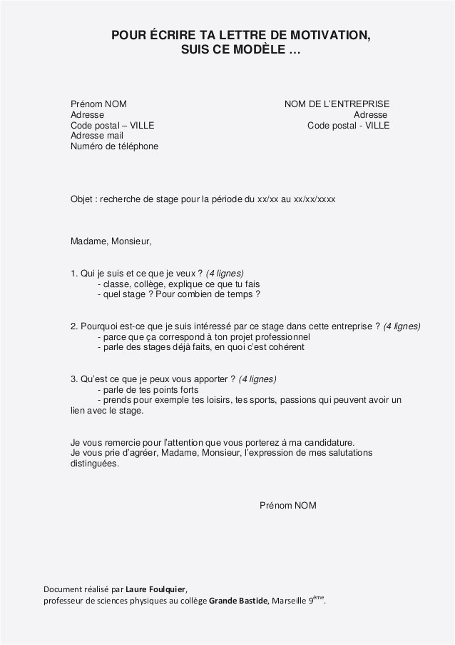 Lettre De Motivation Immersion Professionnelle Lettre De Motivation Spontanee Secretaire