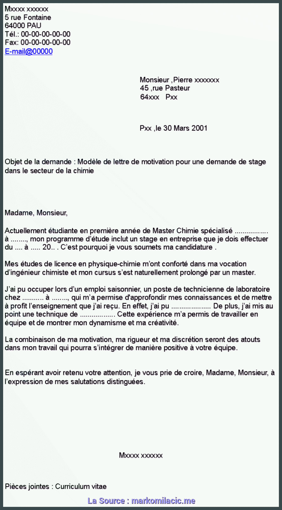 Lettre De Motivation Licence Chimie Bien Lettre De Motivation Licence Plastique Lettre De Motivation