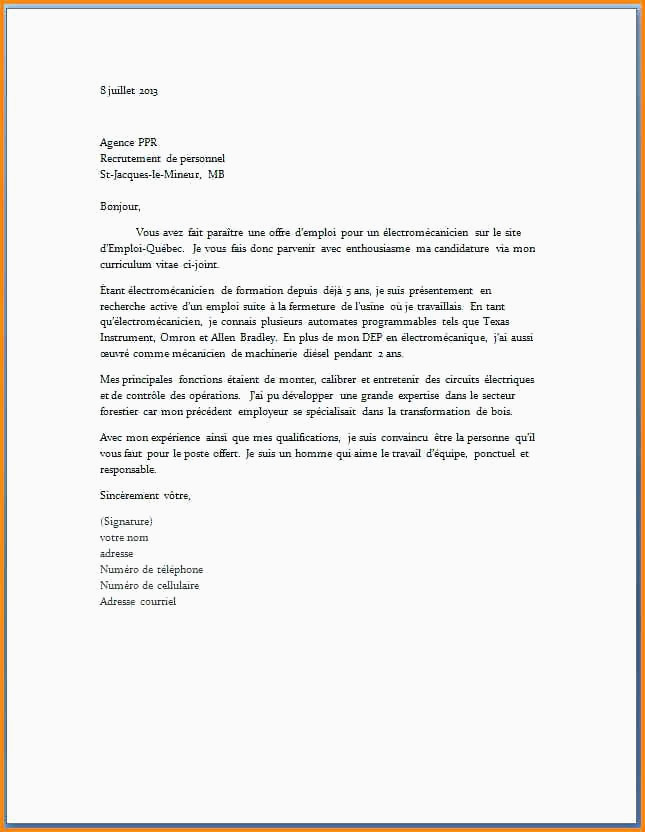 Lettre De Motivation Licence Chimie Candidature Dea Chimie Lettre De Motivation Le Weblog Des Lettres