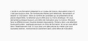 Lettre De Motivation Licence Chimie Fotolib