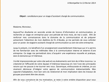 Lettre De Motivation Licence Chimie Hostal Dels Trabucayres