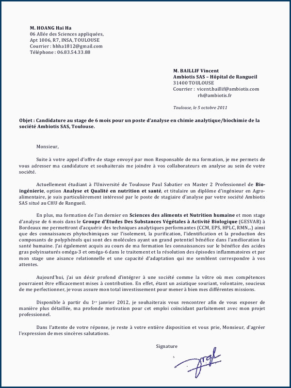 Lettre De Motivation Licence Chimie Lettre De Motivation Pour Salon De Coiffure 11