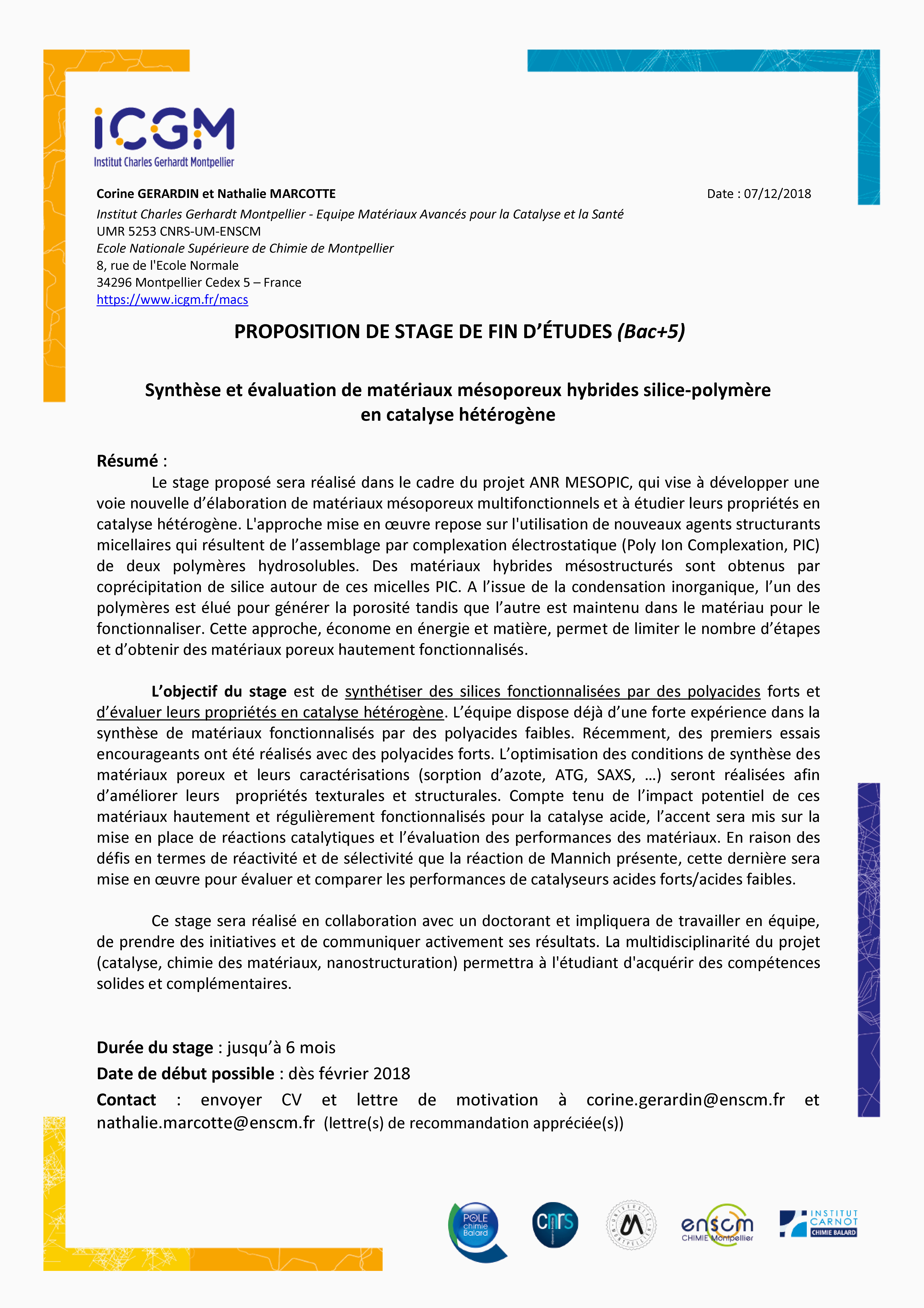 Lettre De Motivation Licence Chimie Lettre Exemples