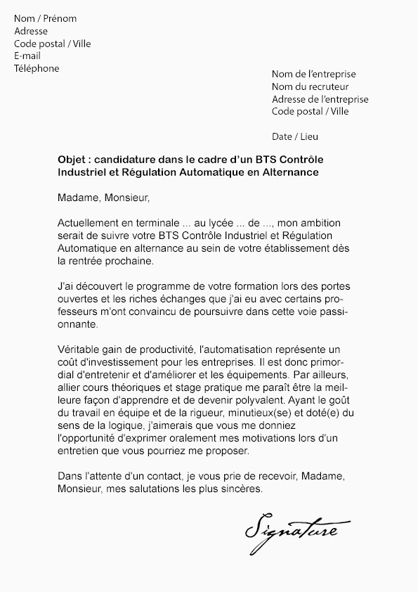 Lettre De Motivation Licence Chimie Lettre Motivation formation Alternance