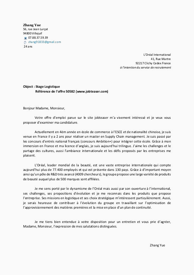 licence professionnelle lettre de motivation