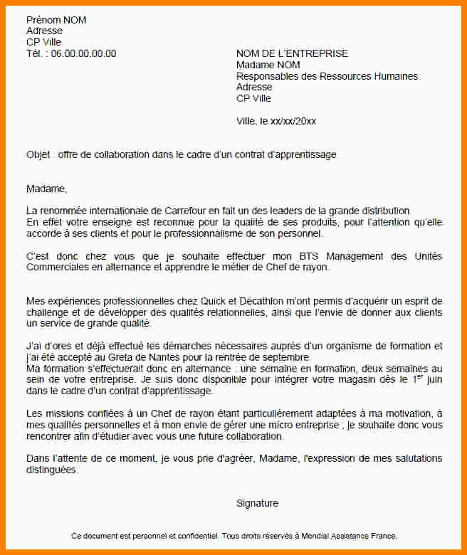Lettre De Motivation Licence Rh Alternance Fre Contrat Alternance Rh échantillon Lettre De Motivation