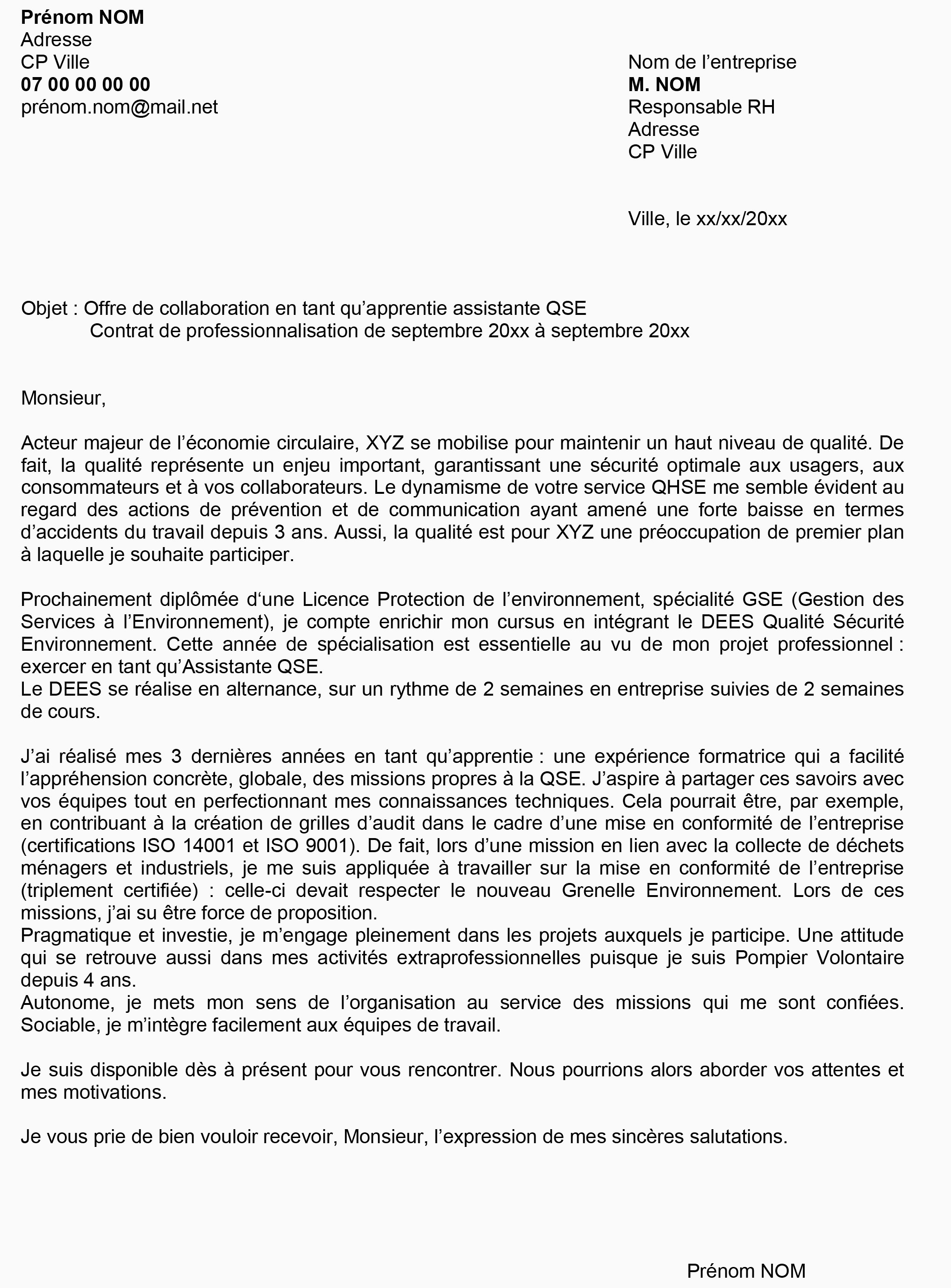 Lettre De Motivation Licence Rh Alternance Lettre De Motivation Licence Rh Alternance Entreprise