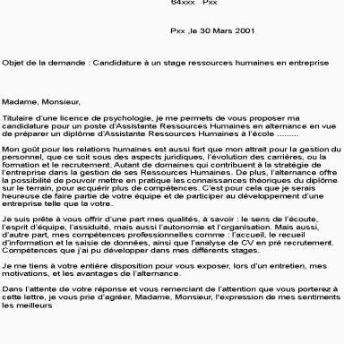 Lettre De Motivation Licence Rh Alternance Simple Lettre De Motivation Pour Contrat En Alternance Ressources