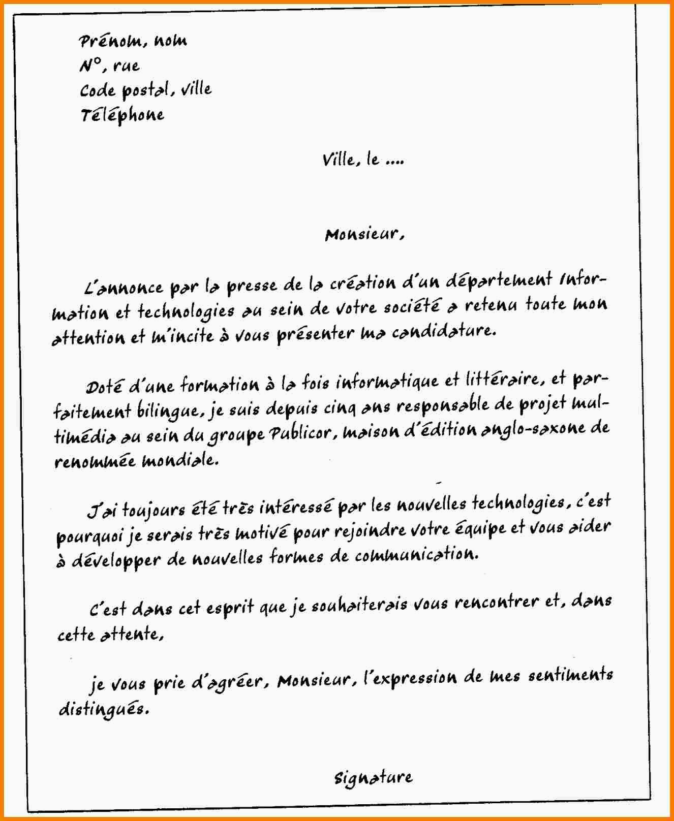 Lettre De Motivation Manutentionnaire Modele Lettre De Motivation Candidature Spontanee Manutention Best