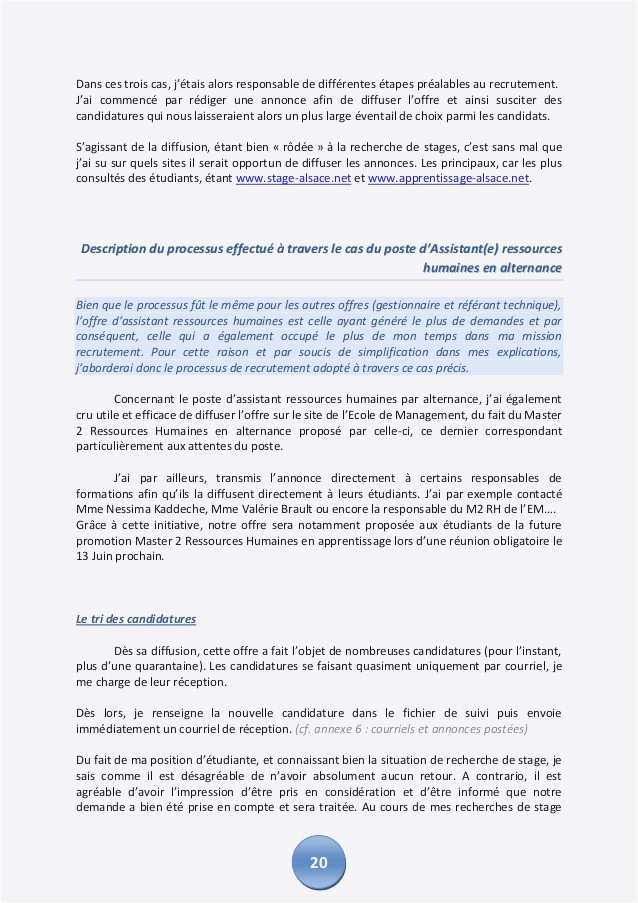 Lettre De Motivation Master Rh Lettre De Motivation assistante Ressources Humaines