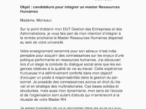 Lettre De Motivation Master Rh Lettre De Motivation formation Rh