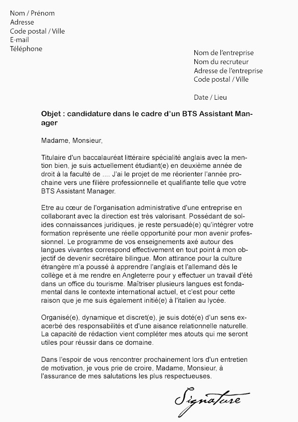 Lettre De Motivation Pour Bts assistant Manager Lettre De Motivation Rh Alternance Luxe Lettres De Motivation Faire