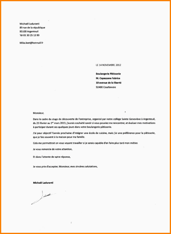 Lettre De Motivation Pour Cfa Exemple Lettre De Motivation Apprentissage Vente Cv Pour