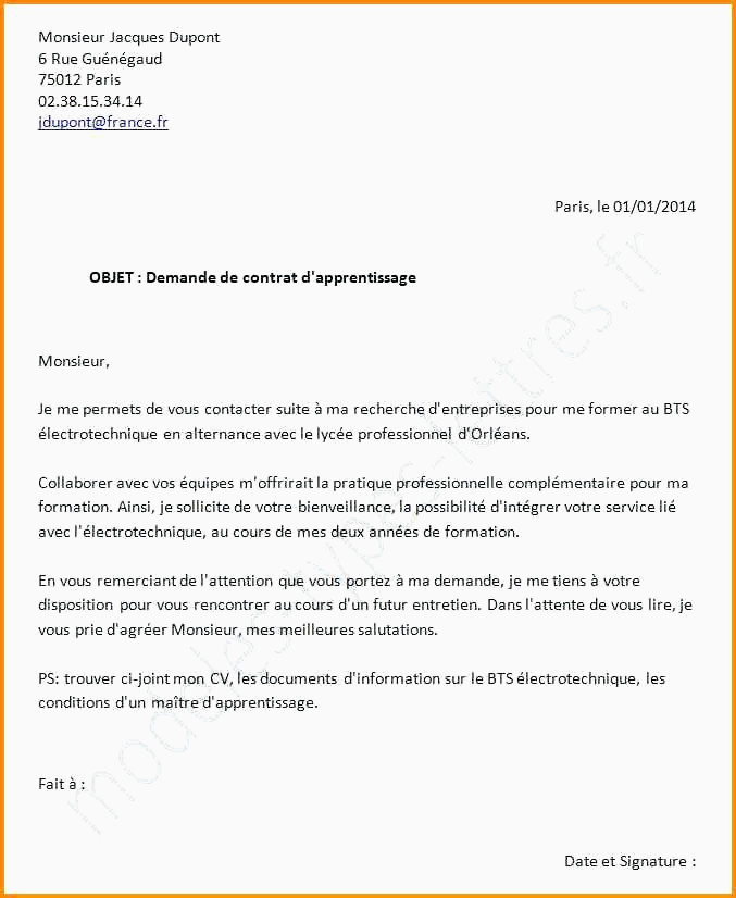 Lettre De Motivation Pour Le Bts 12 Exemple Lettre De Motivation Boulangerie
