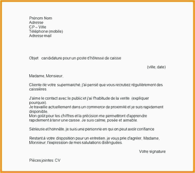 Lettre De Motivation Pour Supermarché Contrat De Travail Exemple Archives Xenakisworld
